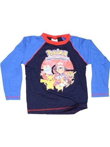 Long sleeve T-shirt boy POKEMON blue 6 years winter #10197_1