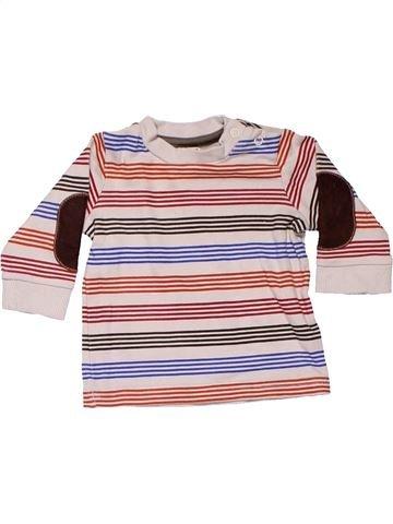 Long sleeve T-shirt boy M&CO pink 3 months winter #10230_1