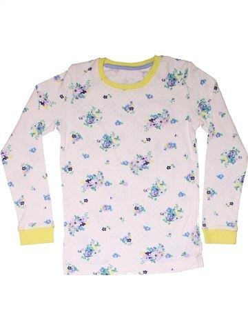 2 pieces Pyjama girl M&S white 8 years winter #10598_1