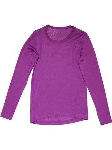 Long sleeve blouse girl TCM purple 10 years winter #10768_1