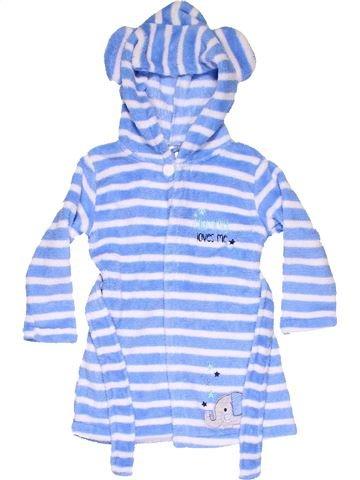Bathrobe unisex BABY blue 2 years winter #11464_1