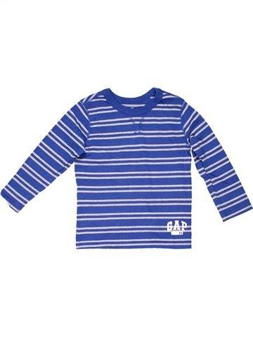 Long sleeve T-shirt unisex GAP blue 3 years winter #1207_1