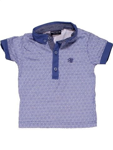 Short sleeve polo shirt boy NEXT purple 6 months summer #12174_1