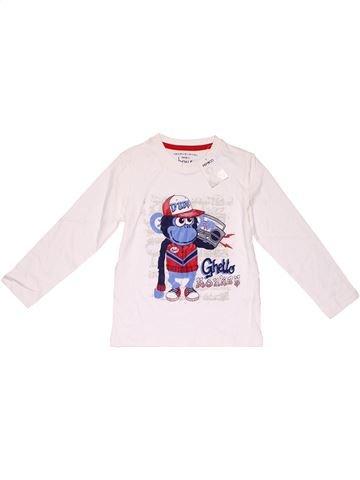 Long sleeve T-shirt boy PEP&CO white 4 years winter #12433_1