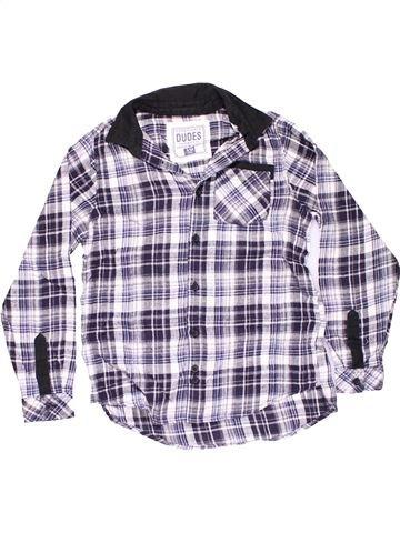 Long sleeve shirt boy GOODS CO. white 10 years winter #13571_1