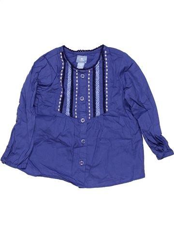 Long sleeve shirt girl BABY GAP blue 2 years summer #13931_1