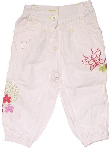 Trouser girl MARKS & SPENCER white 18 months summer #15013_1