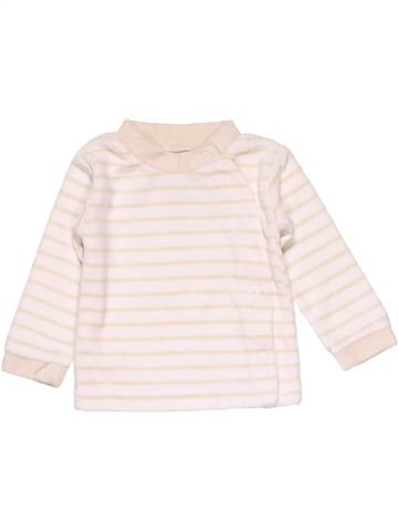 Long sleeve T-shirt unisex BABY CLUB white 1 month winter #15082_1