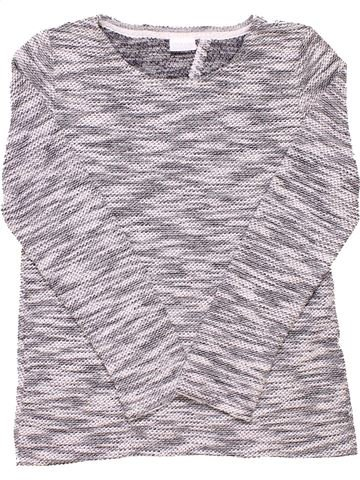 Long sleeve blouse girl F&F KIDS gray 10 years winter #1517_1
