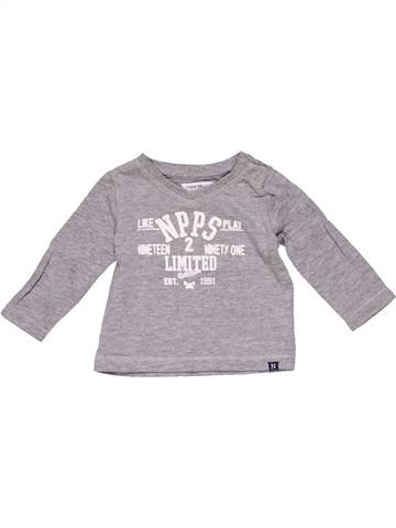 Long sleeve blouse boy NOPPIES gray 1 month winter #15331_1