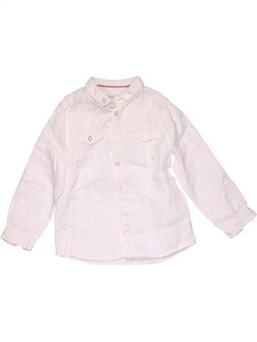 Long sleeve blouse boy OKAIDI white 5 years winter #15592_1