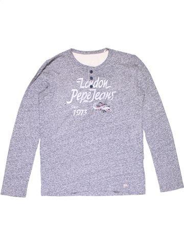 Long sleeve T-shirt girl PEPE JEANS purple 12 years winter #16545_1