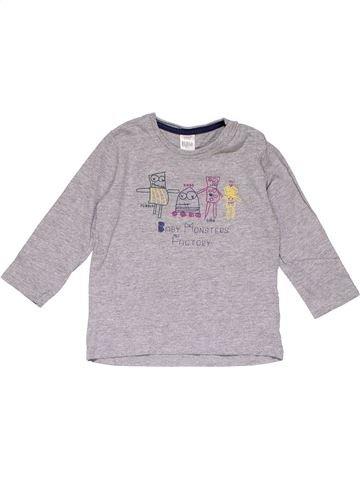 Long sleeve T-shirt girl ZARA gray 2 years winter #16555_1