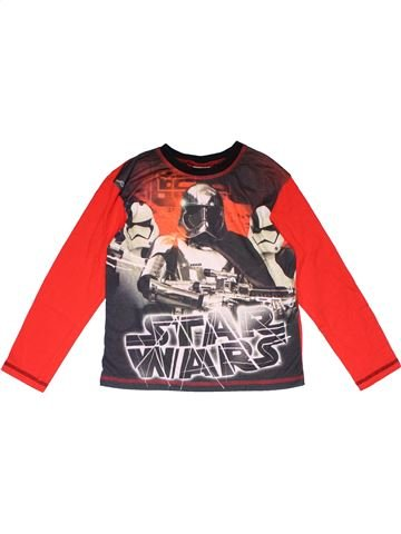 Long sleeve T-shirt boy STAR WARS gray 8 years winter #16858_1