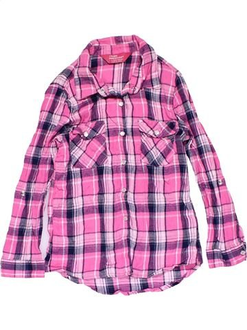 Long sleeve shirt girl YOUNG DIMENSION purple 7 years winter #17900_1
