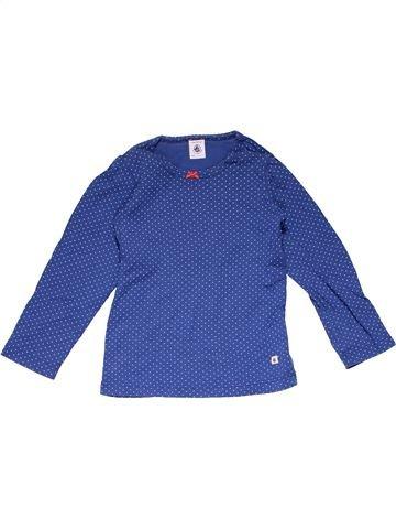 Long sleeve T-shirt girl PETIT BATEAU blue 5 years winter #18224_1