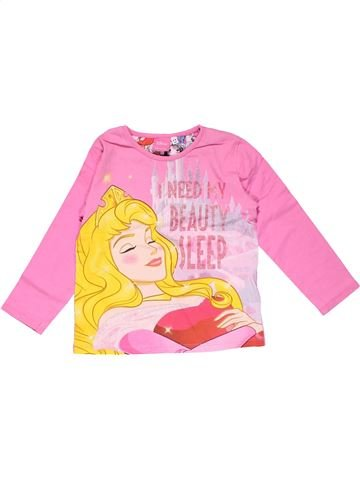 Long sleeve T-shirt girl DISNEY pink 4 years winter #18615_1