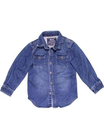 Long sleeve shirt boy REBEL blue 4 years winter #18979_1