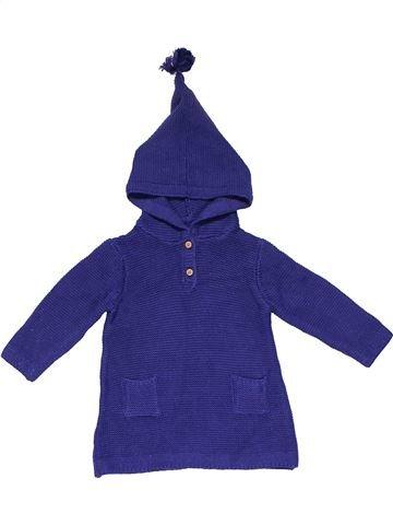 Sweatshirt girl MARKS & SPENCER purple 9 months winter #19501_1