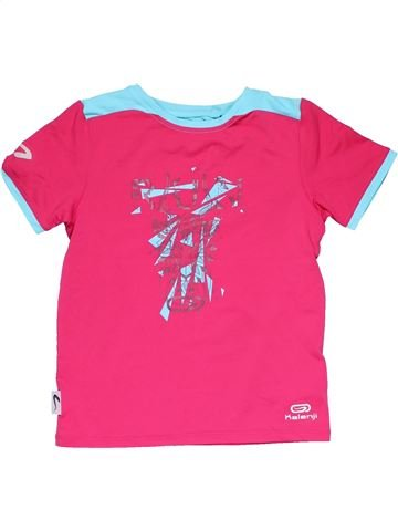 Sports jersey unisex OXYLANE pink 6 years summer #21343_1