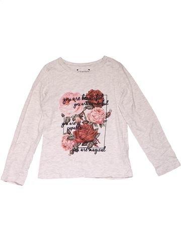 Long sleeve T-shirt girl PRIMARK white 9 years winter #21369_1