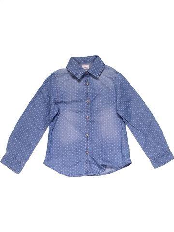 Long sleeve shirt girl DENIM CO blue 6 years winter #21898_1