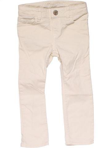 Trouser girl BABY GAP white 3 years summer #22210_1