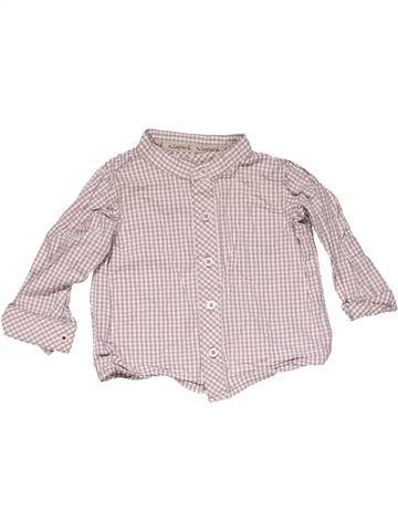 Long sleeve shirt boy M&S pink 6 months summer #22228_1