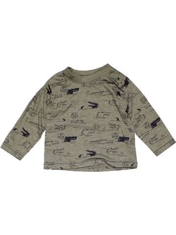 Long sleeve T-shirt boy PRIMARK gray 9 months summer #22432_1