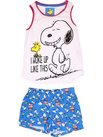 2 pieces Pyjama girl PEANUTS blue 8 years summer #22948_1