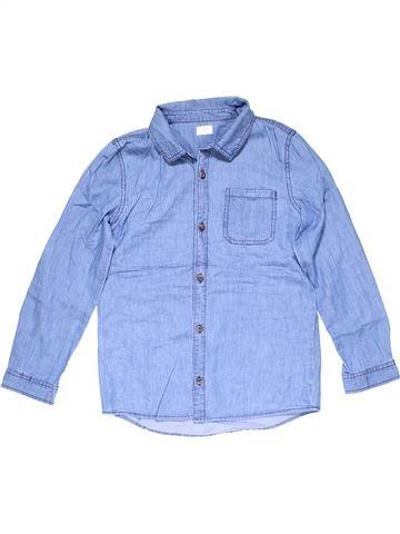 Long sleeve blouse girl F&F blue 11 years winter #23999_1
