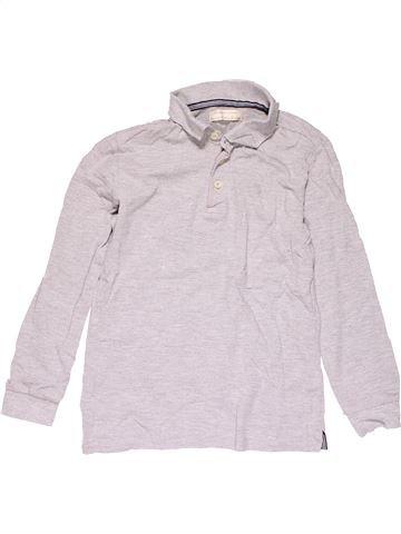 Long sleeve polo shirt boy ZARA white 10 years winter #24105_1