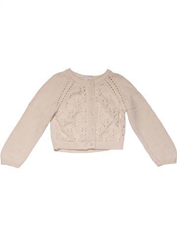Sweatshirt girl F&F beige 12 months winter #24842_1