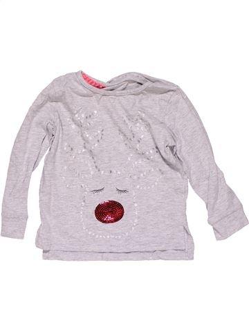 Long sleeve blouse girl F&F KIDS white 3 years winter #25611_1