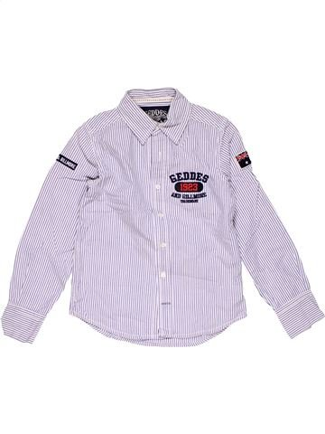 Long sleeve shirt boy GEDDES white 8 years winter #25621_1