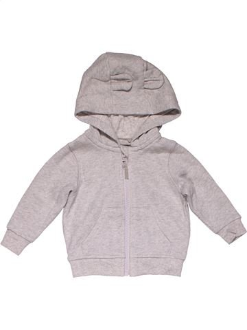 Sweatshirt girl M&S gray 9 months winter #26005_1