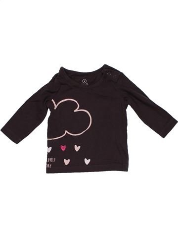 Long sleeve T-shirt girl GRAIN DE BLÉ brown 3 months winter #26083_1