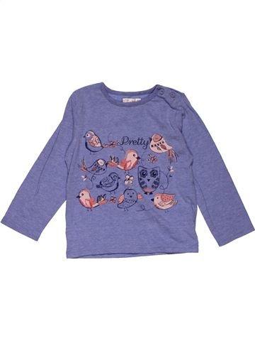 Long sleeve T-shirt boy M&CO purple 2 years winter #26407_1