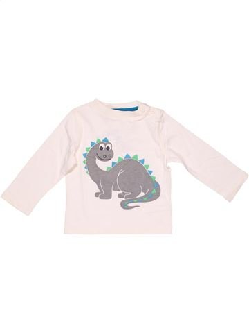 Long sleeve T-shirt boy C&A white 18 months summer #2648_1