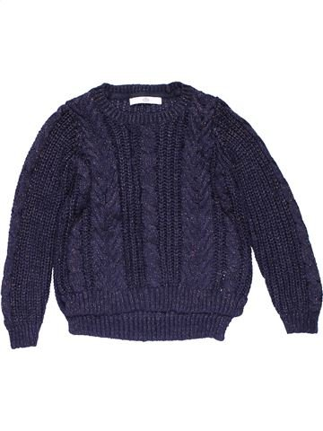 Jumper girl M&S blue 9 years winter #26558_1