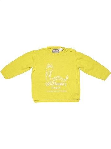 Long sleeve T-shirt unisex ZARA yellow 12 months summer #2669_1