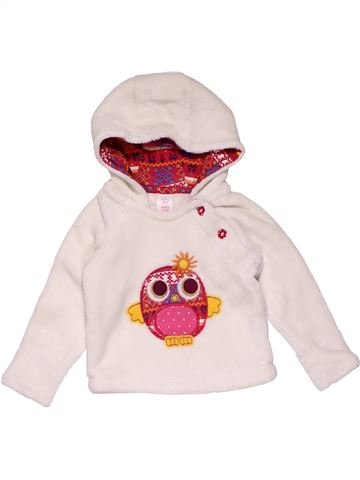 Sweatshirt girl BABY CLUB white 12 months winter #27264_1