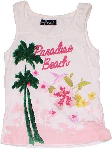 Sleeveless T-shirt girl INFLUX pink 2 years summer #27764_1