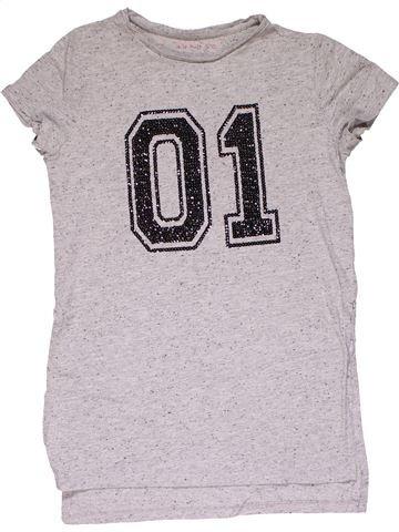 Short sleeve T-shirt girl NUTMEG white 13 years summer #27817_1