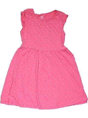 Dress girl H&M pink 6 years summer #27869_1