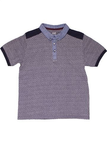 Short sleeve polo shirt boy MATALAN purple 9 years summer #27911_1