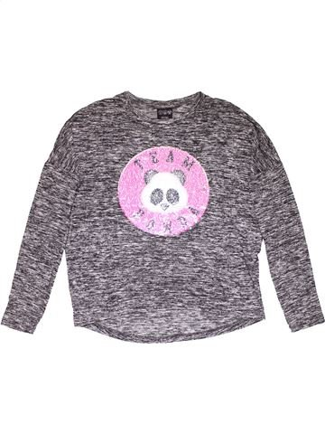 Sweatshirt girl YD gray 13 years winter #27925_1