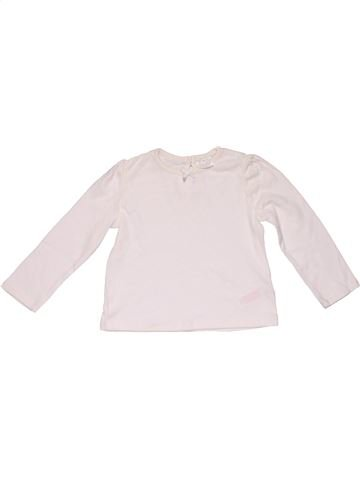 Long sleeve T-shirt girl F&F BABY white 18 months winter #27931_1