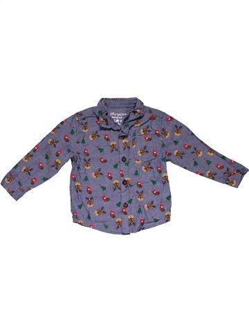 Long sleeve shirt boy F&F blue 12 months winter #27939_1