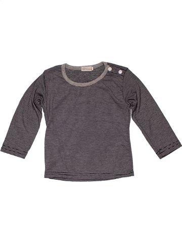 Long sleeve T-shirt boy NO BRAND gray 9 months summer #28006_1